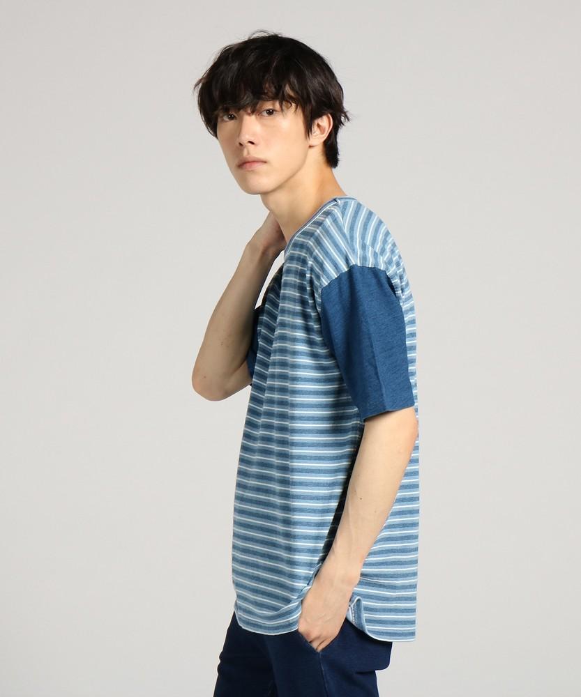 Naughty Dog インディゴクレイジーTシャツ メンズ ブルー*ネイビー