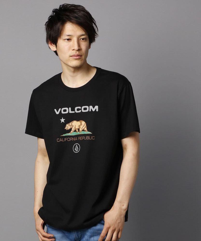 VOLCOM カリフォリニアベアーロゴTシャツ メンズ ブラック