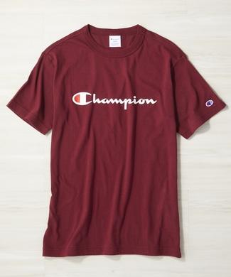 Champion ロゴTシャツ メンズ ブラウン