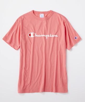 Champion ロゴTシャツ メンズ ピンク