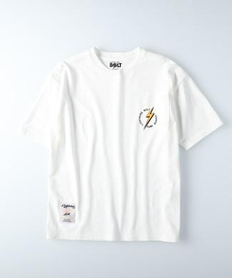 Lightning Bolt ポケットプリントTシャツ メンズ ホワイト