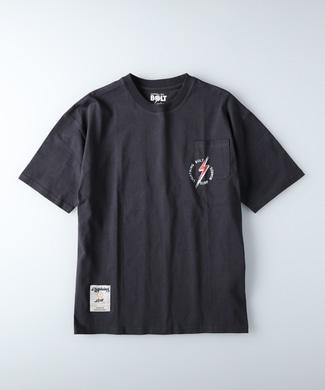 Lightning Bolt ポケットプリントTシャツ メンズ ダークグレー