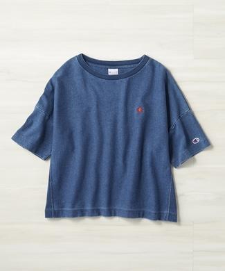 Champion 「REVERSE WEAVE」ワンポイントTシャツ 中濃色