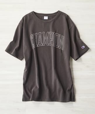 Champion ロゴTシャツ レディース ブラック