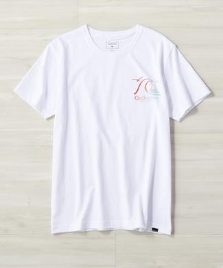 QUIKSILVER バブルロゴバックプリントTシャツ レディース ホワイト