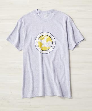 EBBETS FIELD ロゴプリントTシャツ レディース グレー