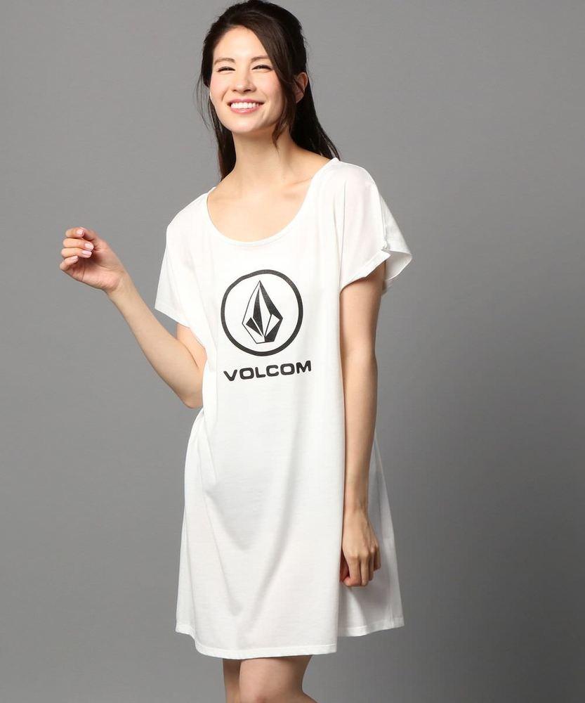 VOLCOM VOLCOMストーンロゴロングTシャツ レディース ホワイト