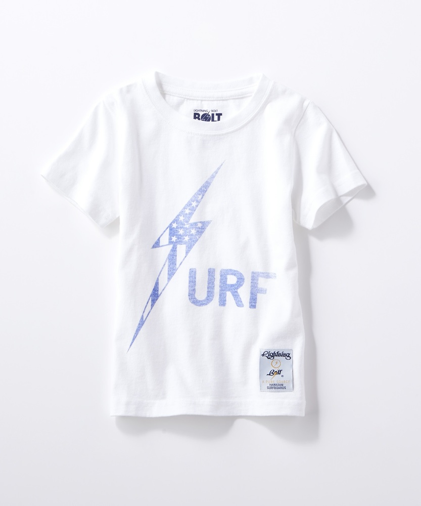 Lightning Bolt サーフロゴTシャツ キッズ ホワイト