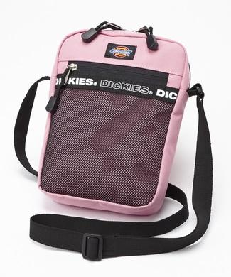 Dickies ロゴテープミニショルダーバッグ メンズ ピンク