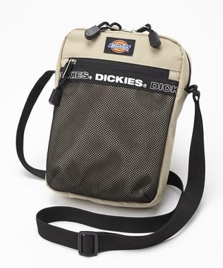 Dickies ロゴテープミニショルダーバッグ メンズ ベージュ