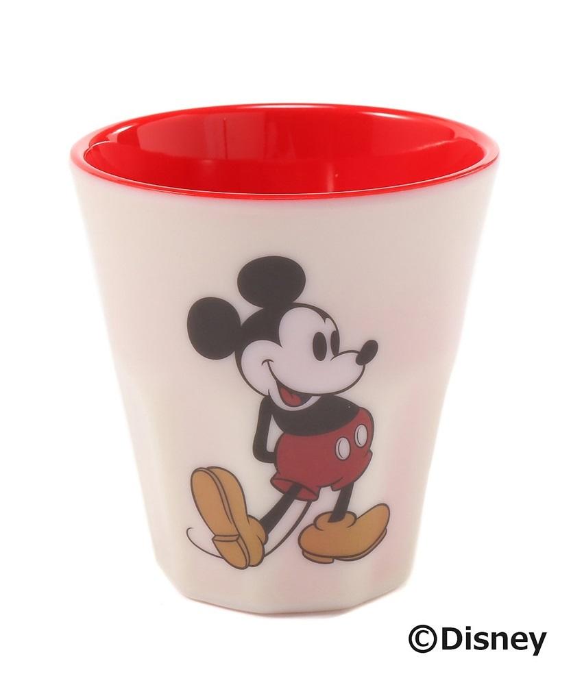 DISNEY ミッキーマウスデザイン メラミンタンブラー レディース レッド